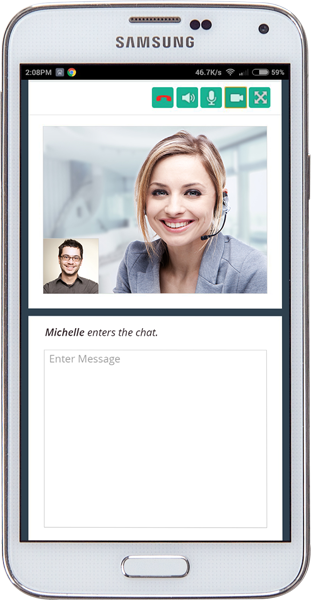 Mobile friendly video chat support